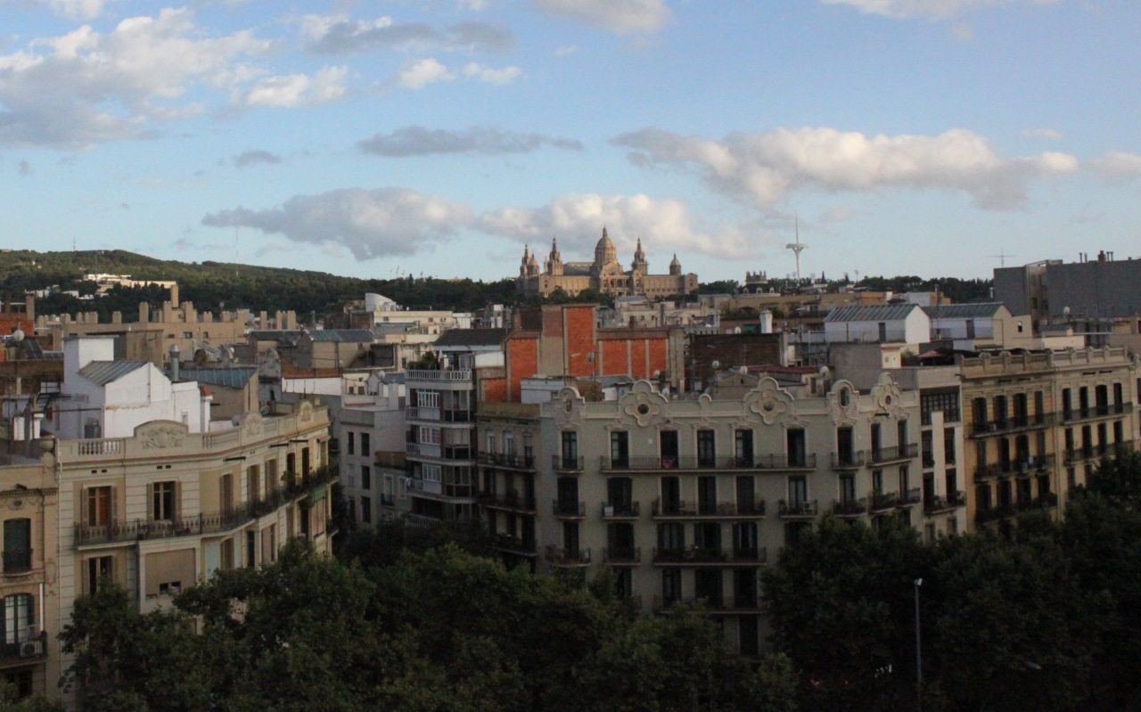 Barcelona-view-of-Montjuic