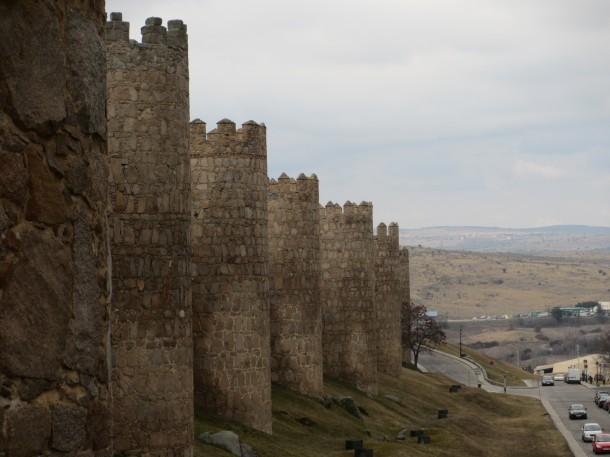 Avila-Spain-castle-walls-rain