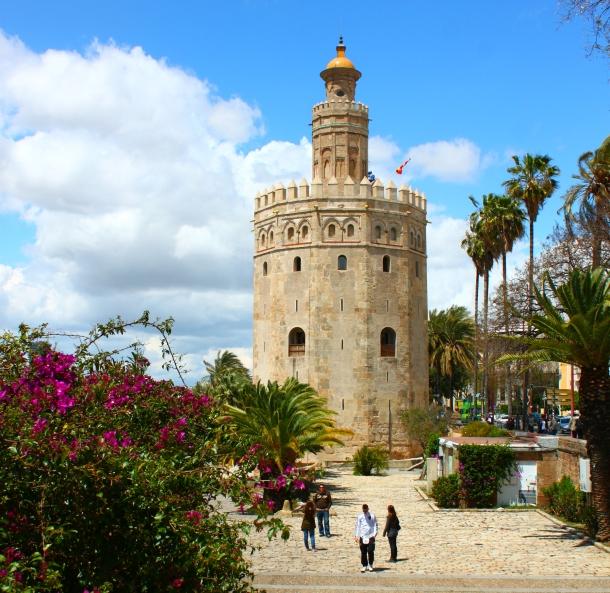 Sevilla-Spain-Torre-de-Oro-spring