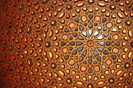 Real-Alcazar-de-Sevilla-Spain-ceiling-detail