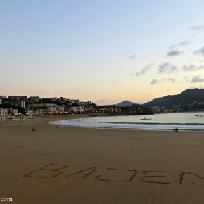 Where in Spain Wednesday – A Message in the Sand in SanSebastián